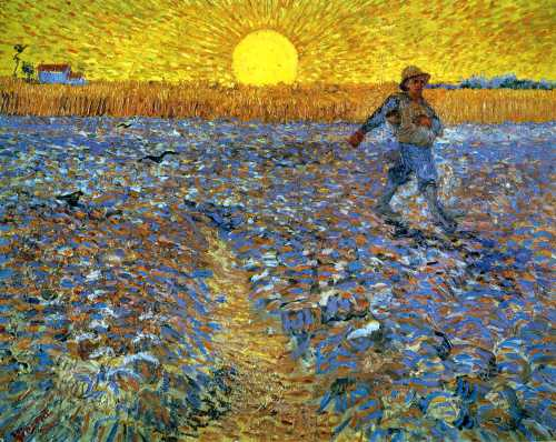 The Sower (Sower with Setting Sun) | Vincent van Gogh 1888 | Rijksmuseum Kröller-Müller, Otterlo, Netherlands.