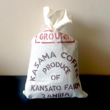 Kasama Coffee , Kansato Farm, Zambia. Medium roast yet still strong.