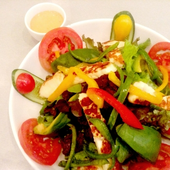 Hallaumi Salad at The Mint Café