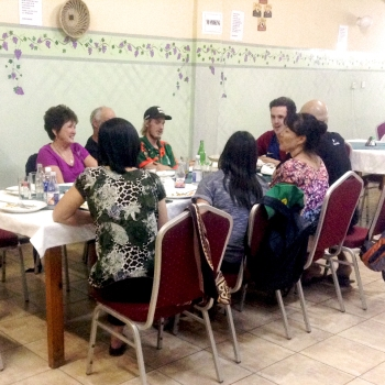 2014 Team and Hands at Work Hosts Having Dinner at an Indian-Nepali Restaurant