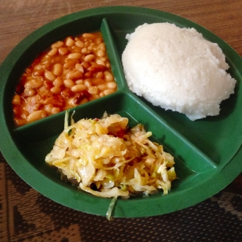 Mwaiseni | Meal – Nshima, Cabbage, and Beans
